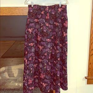 Beautiful floral fall skirt